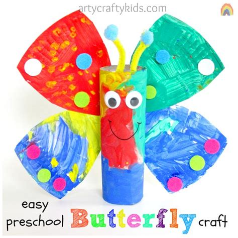 Preschool Crafts For Easy Butterfly by Easy Preschool Butterfly Craft