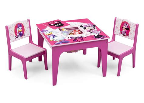 Minnie Table And Chair Set by Minnie Mouse Deluxe Table Chair Set With Storage Delta