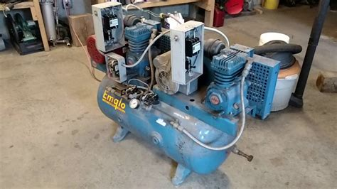 emglo dual air compressor run