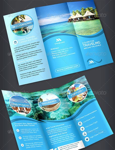 tri fold travel brochure template free travel brochure template 3 fold 40 best travel and tourist