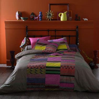 chambre style am駻icain couleur chambre style folklore am 233 ricain orange taupe jaune