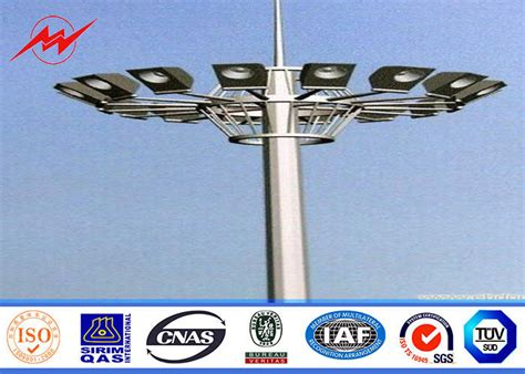 high mast light pole price 15m led high mast pole for airport lighting