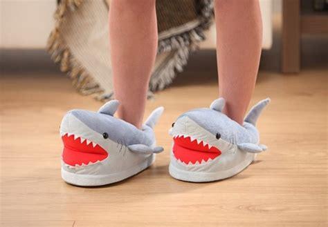 shark slippers shark plush slippers