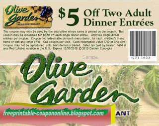 Garden Of Coupons Printable by Printable Coupons 2018 Olive Garden Coupons