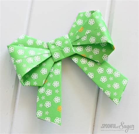 How To Make A Bow Origami - origami bow a spoonful of sugar