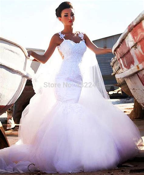Aliexpress Buy 2014 Mermaid Bridal Gowns Crew Aliexpress Buy Sw260 2014 Mhamud Mermaid Bridal Gown