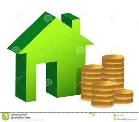 home design free coins model house and coins illustration design royalty free