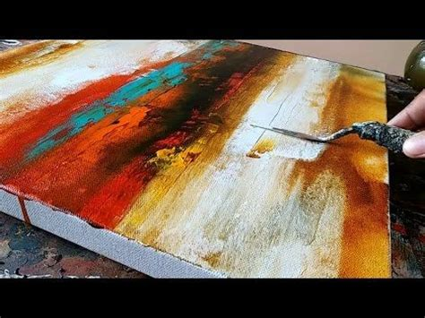 3 Painting Techniques by Abstract Painting In Less Than 4 Minutes Easy And