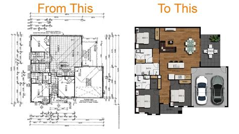 how to make a floor plan how to create a 2d colour floor plan or rendered floor plan with photoshop tutorial1