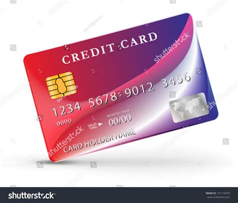 credit card design template vector credit debit card design template vector stock vector