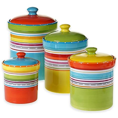 Bed Bath And Beyond Canisters by Mariachi 4 Canister Set In Multi Bed Bath Beyond