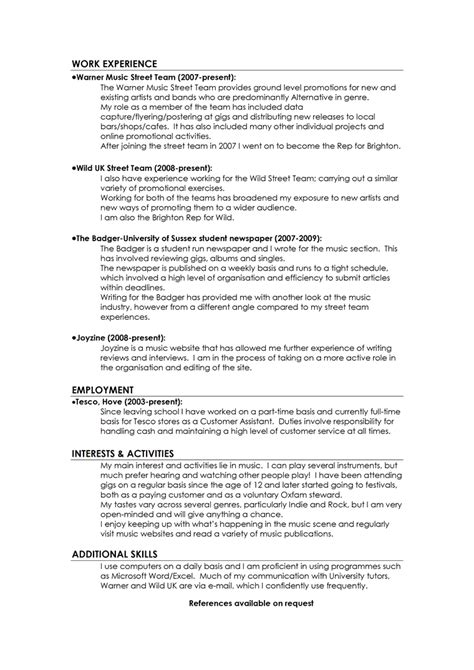 exles of cvs and cover letters excellent cv exles