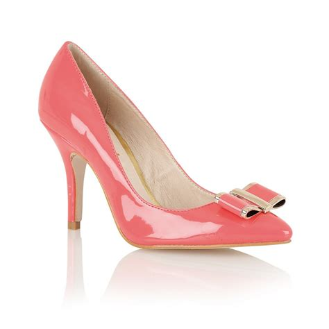 buy ravel waterlily court shoes in coral patent