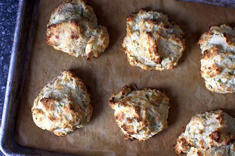 blue cheese scallion drop biscuits smitten kitchen