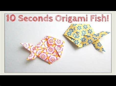 Origami Fish Tutorial - slower tutorial version fold origami fish in 10