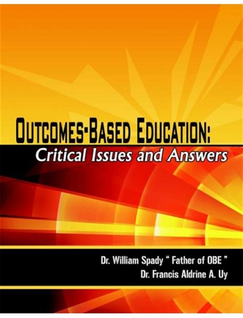 thesis about outcome based education outcome based education critical issues and answers