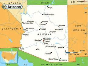 map of arizona cities maps arizona maps