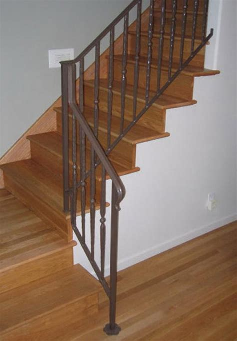 stairs metal stair railing height right planning to