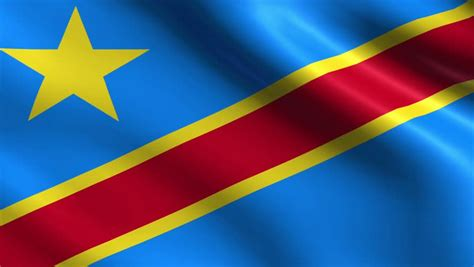 what color is the democratic flag of democratic republic of congo motion waving