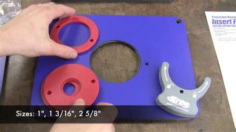 kreg router plate template kreg insert plate product tour