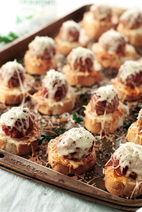 meatball crostini recipe  simple pantry recipes great appetizers appetizers   crowd
