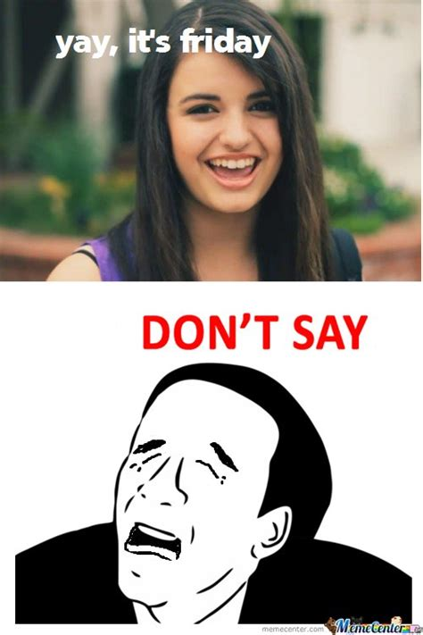 Rebecca Black Meme - its friday rebecca black meme www pixshark com images