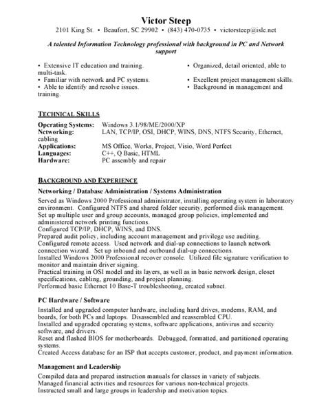 ideas of stunning network administrator resume example charming
