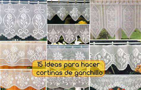 ideas  hacer bonitas cortinas de ganchillo crochet paso  paso