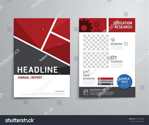brochure design templates for education vector brochure flyer magazine cover booklet stock vector