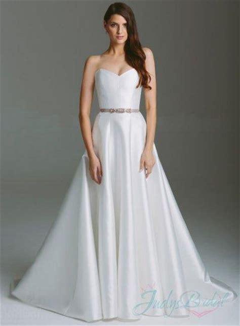 Organza Plain White Wedding Dresses by Simple Plain White Sweetheart Neckline A Line Wedding