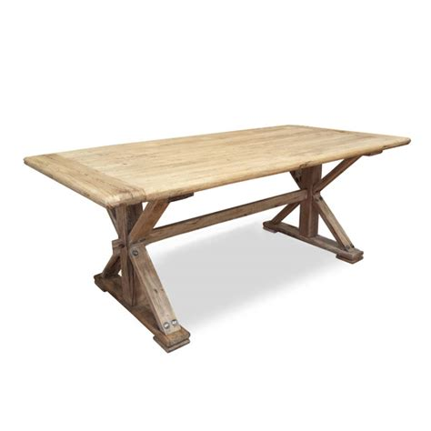 M S Dining Table Winston Reclaimed Dining Table 1 98m Rustic Interior Secrets