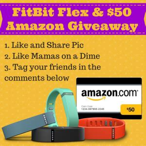 Fitbit Gift Card - last chance enter to win a fitbit flex 50 gift card mamas on a dime