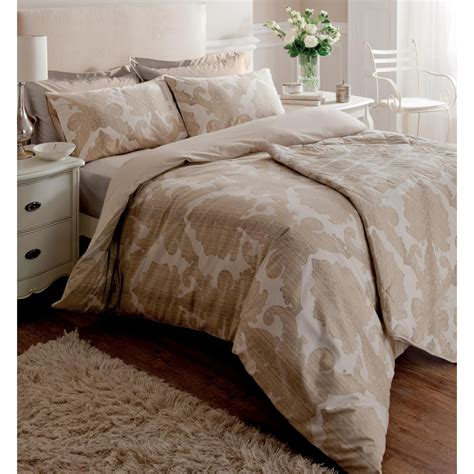 cotton comforter cover ombre damask cream beige cotton duvet cover more