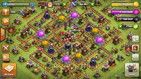 coc village layout th10 all magma walls at clash of clans town hall 10 jayceooi com