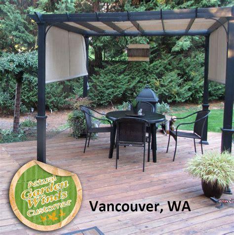 garden treasures pergola canopy lowes garden treasures 10 ft pergola replacement canopy s j 110 garden winds