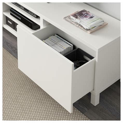 best 197 tv bench with drawers lappviken white 180x40x48 cm