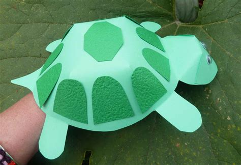 How To Make A Paper Turtle - paper crafts for children 187 paper construction