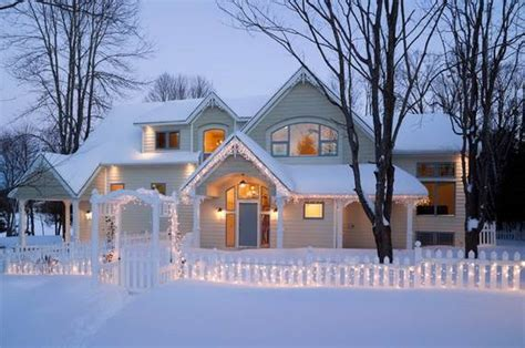 winter house 60 trendy outdoor christmas decorations family holiday
