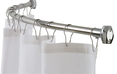 short curved shower curtain rod extra wide curtain rods full size of long shower curtain