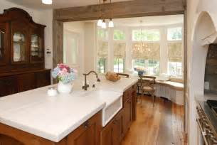 Dining Room Buffet In Front Of Window Post And Beam Construction Dining Room Farmhouse With