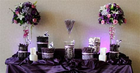 candy by brandi purple and lavender candy buffet