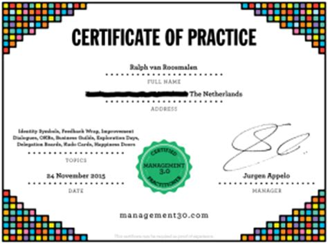 how to get certification certificate of practice