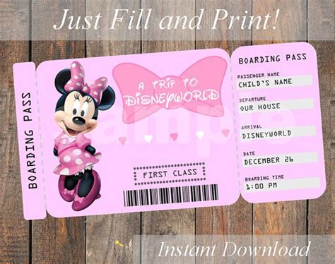 printable disneyland tickets printable ticket to disneyworld disneyland customizable