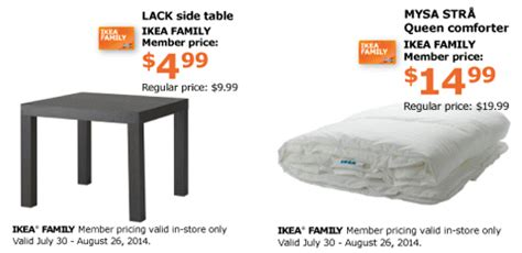 ikea family price ikea special nights of summer with name your price auction coupons 4 utah
