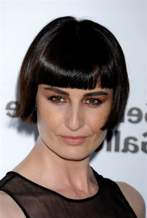 pageboy hairstyle gallery erin o connor short pageboy haircut with blunt bangs