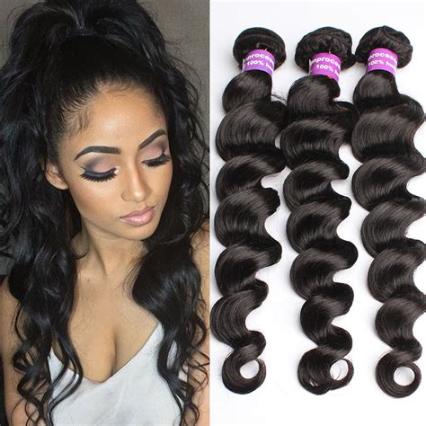 virgin brazilian weave unprocessed 6a quality 4pcs lot brazilian virgin hair
