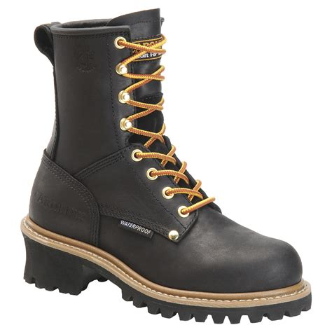 womans boots carolina s waterproof logger boots ca420 ca1420