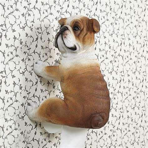animal toilet paper holder pug toilet rolls paper holder bulldog toilet tissue paper rack creative animal hanging paper