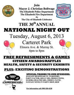 National Night Out Invite Nno My Etsy Designs With Im Definitely Using This Cute Printable For National Out Flyer Template Free