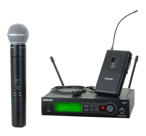 Microphone Waireless Shure Pgx288u2mic Pegang shure slx124 85 sm58 wireless diversity combo bodypack handheld microphone system with sm58